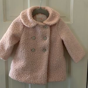 Janie and Jack - Pink Winter Coat 6-12m - new!
